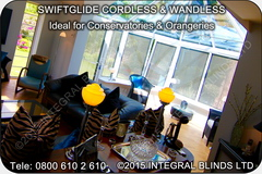 SwiftGlide Integral Blinds  - The worlds Lowest Profile Between Glass Blinds