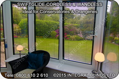 Magnet operated cordless integral Blinds UK